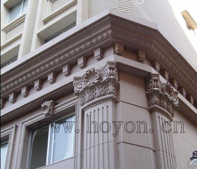 工程名称:台北知名商住楼-欧式外墙石材干挂   工程地点:台湾台北
